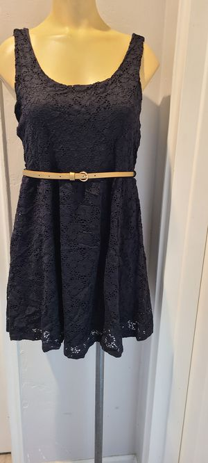 Black dress with belt for Sale in Tempe, AZ