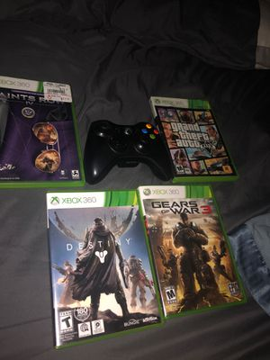 Xbox 360 games and controller for Sale in Mansfield, TX