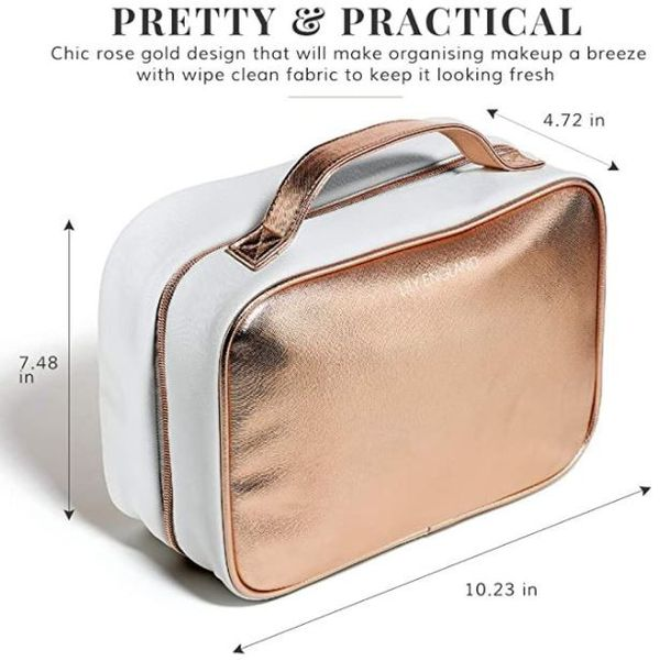 Chic Rose Gold Luxury!! Perfect for Toiletries & Makeup!