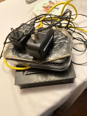 Router and modem for Sale in New Haven, CT