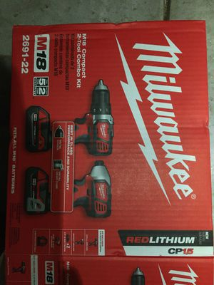 Milwaukee m18 drill driver and impact set for Sale in Raleigh, NC