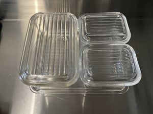 Pyrex Fridgie Set, Clear Glass for Sale in The Bronx, NY