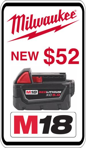 BRAND NEW - Milwaukee M18 5.0 Battery - We accept trades & Credit Cards - AzBE Deals for Sale in Sun City, AZ