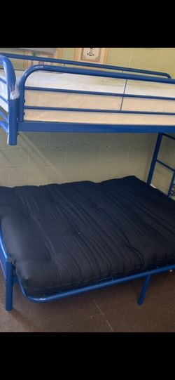 New Twin Futon Bunkbed With Mattress And Futon Pad Included Everything New . We Offer Easy Finance Not Credit Check Needed for Sale in Las Vegas,  NV