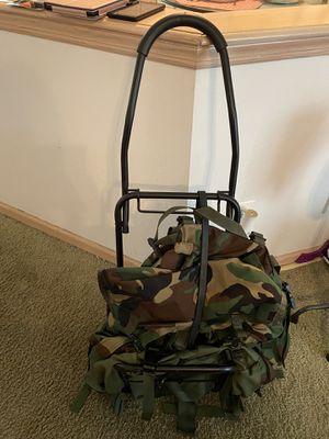 Camo Aluminum Framed Hiking Backpack for Sale in Tuckerton, NJ