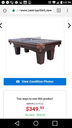 b5a375f948 Barrington 8  pooltable w table tennis for Sale in Tacoma