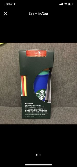 Starbucks color changing cups for Sale in Montclair, CA