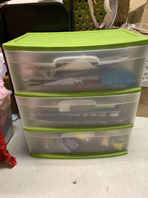 Green wide storage plastic drawers for Sale in Garden Grove, CA