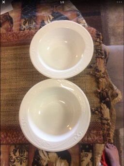 2 princess house cereal/ soup bowls for Sale in Riverside, CA
