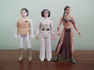 Princess Leia Action Figures 1977, 1980, 1997 for Sale in Warren, MI