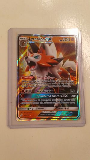 LYCANROC GX Pokemon Card. NM/M. Never played. for Sale in Los Angeles, CA