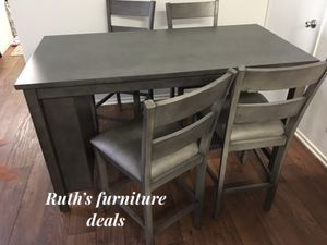 Counter height dining table set with kitchen shelves for Sale in Long Beach, CA
