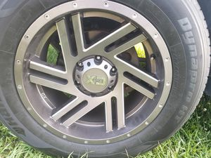 Xd flawless rims and tires 18x9 for Sale in Robersonville, NC