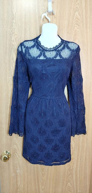 M-Blue all over lace w/zipper back enclosure for Sale in Kent, WA