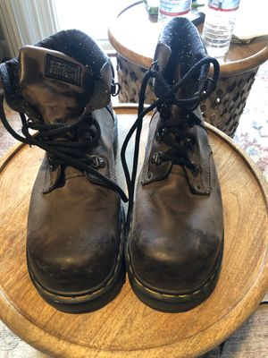 Doc martens brown steel toe boots 11 for Sale in San Ramon, CA