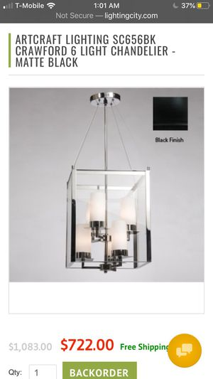 6 Light Chandelier New Retails over $200 for Sale in Fresno, CA