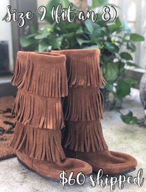 Minnetonka Fringe Boots for Sale in San Marcos, TX