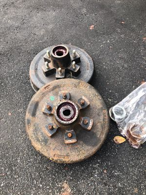 Set of trailer hubs like new for caravan boat trailer for Sale in Wyomissing, PA