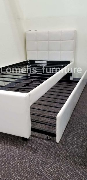 Twin/twin trundle with mattresses included for Sale in Santa Fe Springs, CA