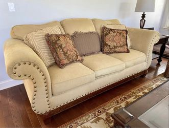 2 sofas with pillows included both are 88 inches in length for Sale in Wexford,  PA
