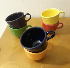 Fiestaware cups and saucer set for Sale in Irving, TX