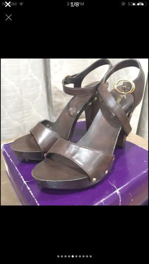 """Leather heels sandals women's size 8.5"""" for Sale in Silver Spring, MD"""