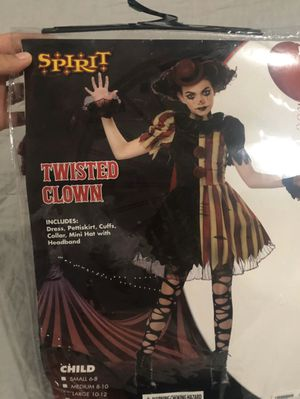 Twisted Clown Halloween costume for girls size L for Sale in Hayward, CA