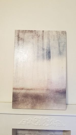 Painting of misty forest on canvas for Sale in Jersey City, NJ