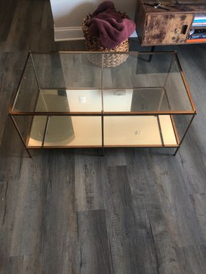 Like new Glass bronze coffee table! for Sale in Murfreesboro, TN