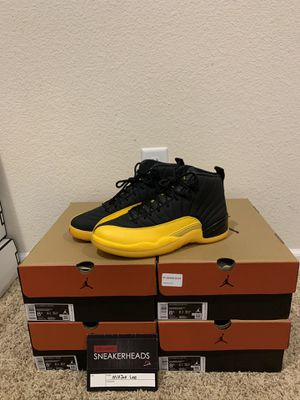 Jordan12 Retro Black University Gold Size8.5 for Sale in Dublin, CA