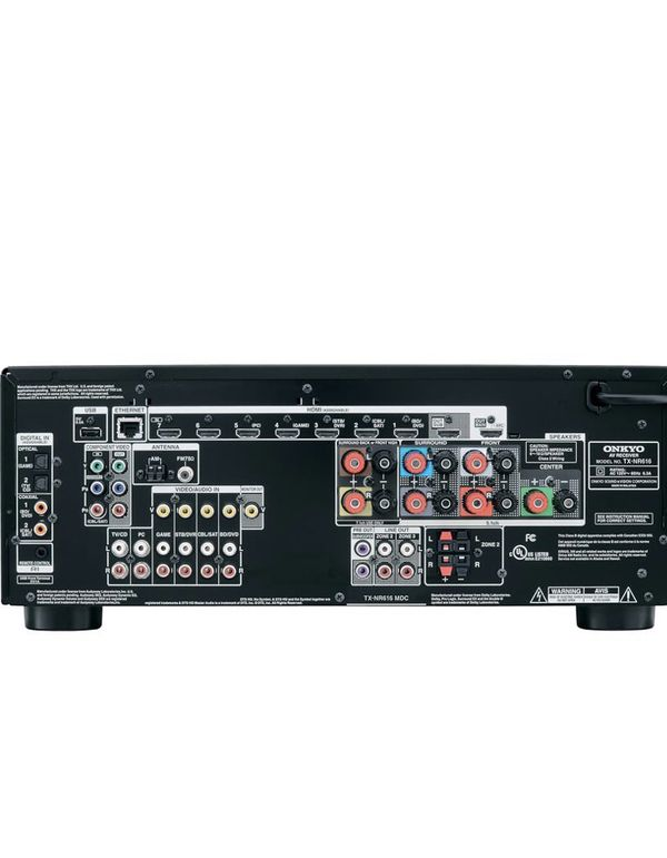 Onkyo TX-NR 616 Home Theater Receiver 7.2 channel 100 watts per channel. THX select 2 plus including Dolby True HD and DTS- HD Master Audio. NR616 u