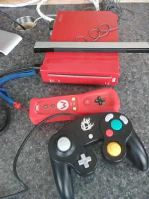 Red Mario Wii Plus Remote control and Super smash Bros Controller New for Sale in Washington, DC