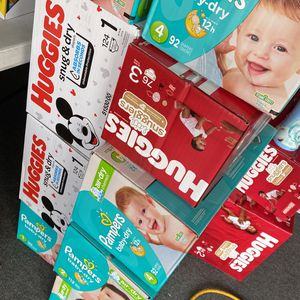 Huggies And Pampers Diaper Boxes for Sale in Fontana, CA