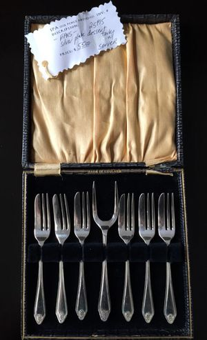Dessert Forks with Server, Silver Plated for Sale in Crofton, MD