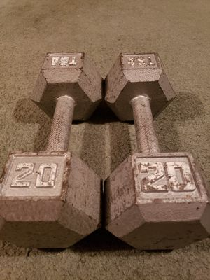 20 lbs dumbbells x 2 for Sale in Orem, UT
