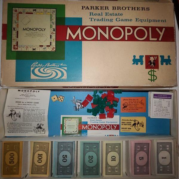 1961 Complete Monopoly Set
