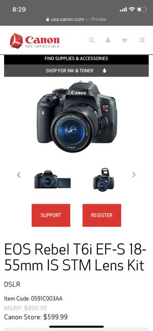 canon t6i with accessories for Sale in Conroe, TX