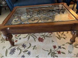William Sonoma Glass top coffee table for Sale in Lauderhill, FL