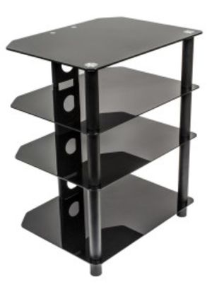 New NavePoint 4 Glass Shelf Audio Video Component Storage Tower for Sale in Alta Loma, CA