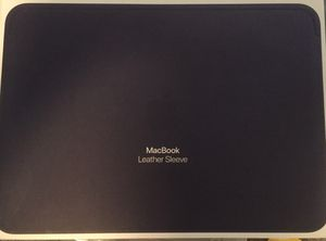 "MacBook 12"" Midnight Blue Leather sleeve- Brand New! for Sale in Issaquah, WA"