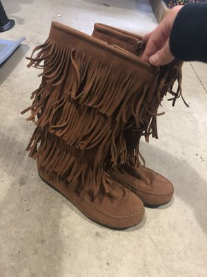 Vegan Suede Women's Fringe Boots for Sale in Hillsboro, OR