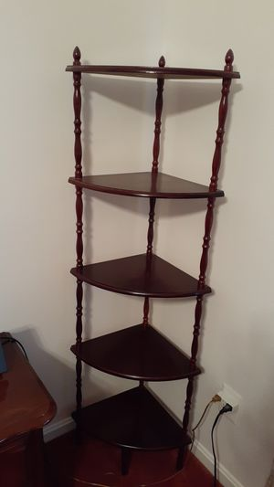 Cherrywood 5 tier corner shelf for Sale in UPR MARLBORO, MD