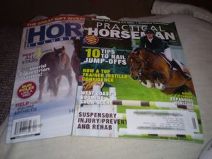 Totes full of horse magizines 5.00 each for Sale in Cuba, MO