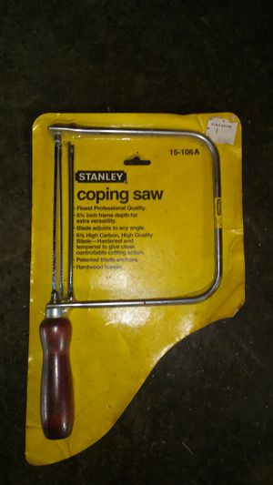 Stanley coping saw for Sale in New Windsor, MD