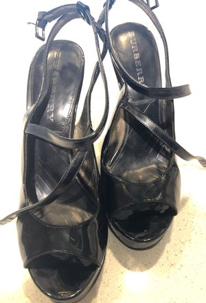 Burberry wedges size 6 black shoes for Sale in Houston, TX