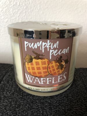 Pumpkin Pecan Waffles, 3-wick candle, Bath & Body Works for Sale in Rancho Cucamonga, CA