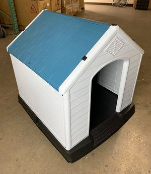 "Brand New $75 Plastic Dog House Medium/Large Pet Indoor Outdoor All Weather Shelter Cage Kennel 35x31x32"" for Sale in Montebello, CA"