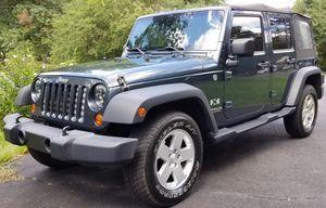 2008 Jeep Wrangler Unlimited X Steel blue for Sale in Manassas Park, VA