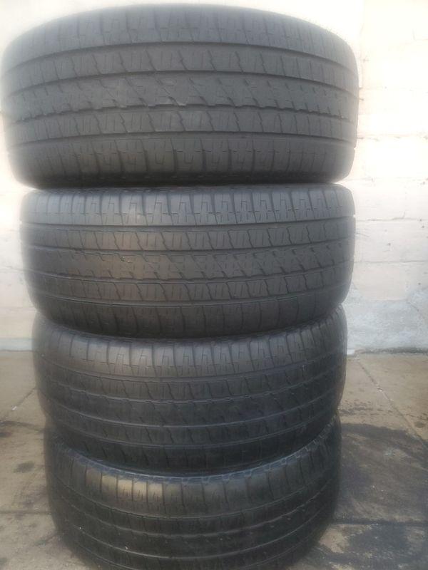 04 BRIDGESTONE TIRES FOR SALE. SIZE 285/45/22