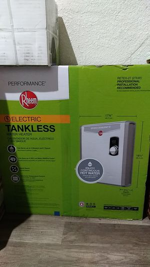 Rheem Retex 27 Tankless Water Heater. for Sale in Fresno, CA